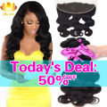 Brazilian Virgin Hair With Frontal Closure Bundle 7A Brazilian Body Wave Ear to Ear Lace Frontal Closure With Bundles Human Hair