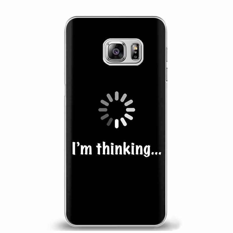 Weiche TPU Silikon Matte Fall Mädchen Aufkleber Memes Zitieren Cool Lustige Worte Fall Für Samsung Galaxy S8 S9 Plus S6 s7 Rand Hinweis 8 9