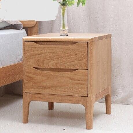 US $404.99 10% OFF Nightstands Bedroom Furniture oak solid wood bedside  table night stand mesitas de noche side table minimalist modern  42*40*50cm-in ...