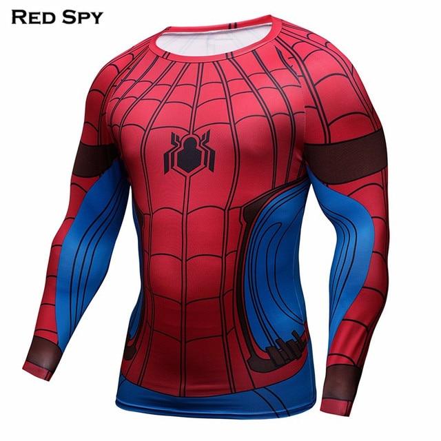 877986d0 3D Printed T-shirt Spider Man Compressed Tee shirt Super hero Men/Women Long