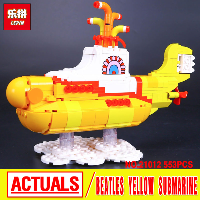 NEW Lepin 21012 The Beatles John Winston Lennon Paul McCartney Harrison Ringo Starr Yellow Submarine Building Blocks Models Toys lepin 21012 builder the beatles yellow submarine with 21306 building blocks bricks policeman toys children educational gift toys