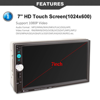 New 7 Inch HD Bluetooth Touch Screen Car Stereo Radio 2 DIN FM MP5 USB AUX