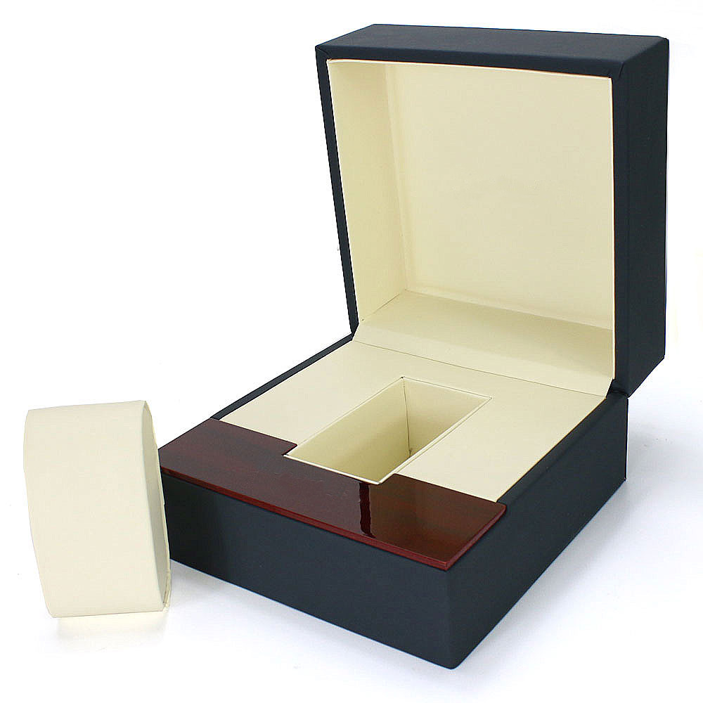2018 White Painted Wooden Box Jewelry Items Box Simple Flip Fold Watch Gift Watch Gift Gift Display Organized caixa para relogi