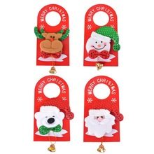 1PC Christmas Decoration For Home Bell Door Hanging Pendant Drop Ornaments Xmas Santa Claus Snowman Reindeer Bear