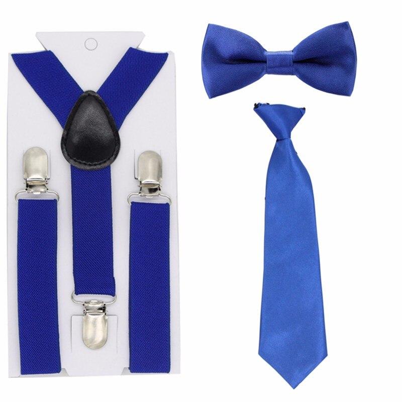 Fashion BOYS Girl KIDS Clip-on Braces Elastic Suspenders Bowtie Bow Tie Colorful