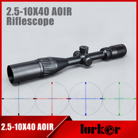HLURKER Tactical 2 5 10X40 AOIR Illumination Rifle Scope Red Green Blue Color Reticle Optics Riflescope