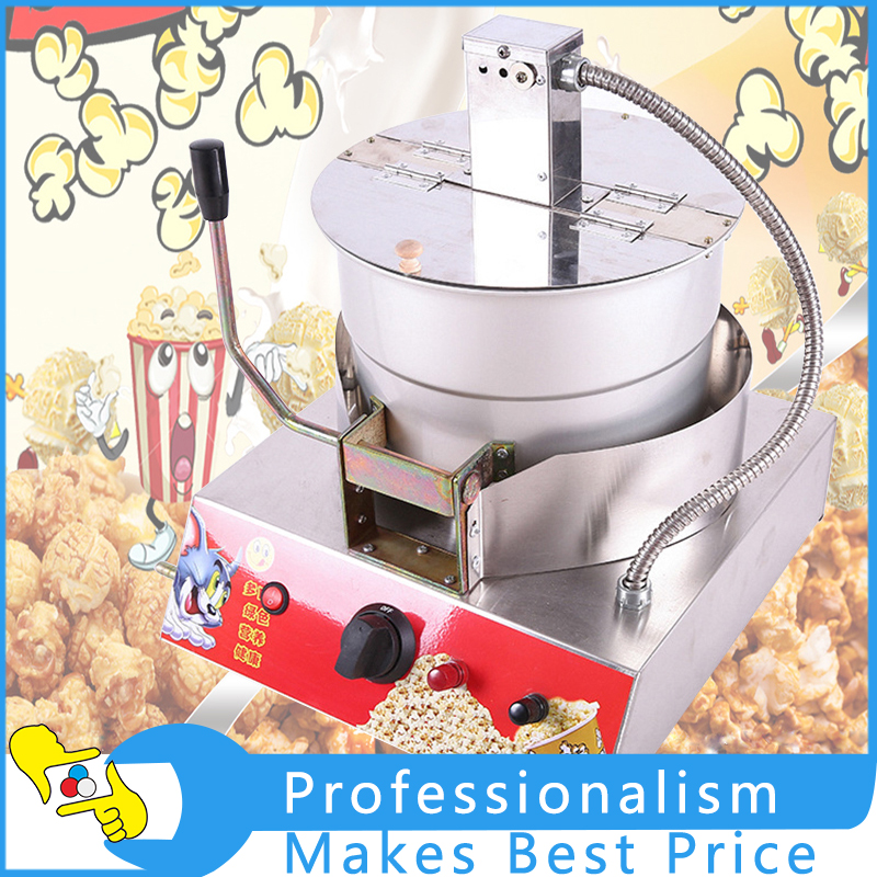 Easy To Clean Popcorn Maker High Quality Commercial Hand Desktop Popcorn Machine Stainless Steel Machine Non-stick Inner asus m4a78 vm desktop motherboard 780g socket am2 ddr2 sata2 usb2 0 uatx second hand high quality