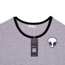 Cool Alien-embroidered women t-shirt / 8 Colors