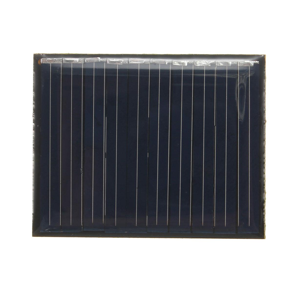 LEORY High quality Polycrystalline 5V 0.2W Solar Energy Power Solar Panel Module System Solar Cells Charger 4.3x3.4x0.2cm