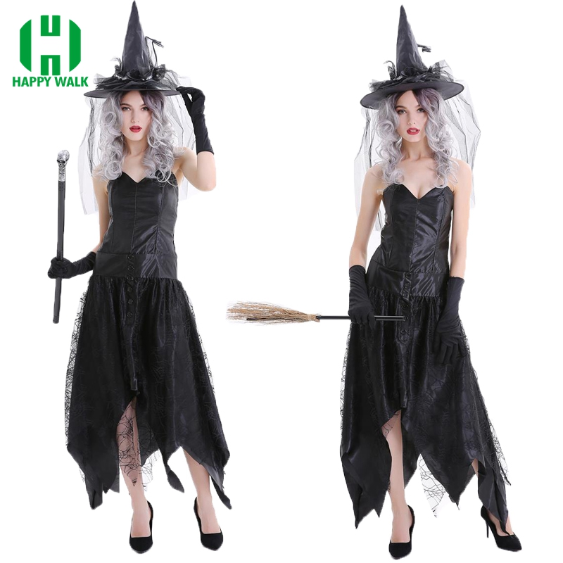 Halloween Witch Costumes Christmas Carnival Clothing Adult Fairy Costume Cosplay Party Fancy Dress Witch Vampire Cosplay Costume