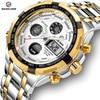 GOLDEN HOUR Men's Luxury Dual Display Analog & Digital Waterproof Chronograph Date Quartz Watches 1