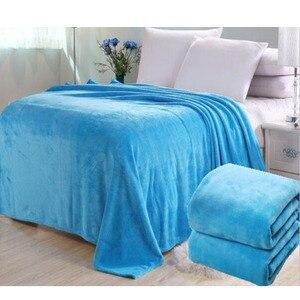 Image 1 - Big Size Super Zacht Bed Deken Fleece Solid Pure Kleur Roze Deken Plaids Spreien Gooi Voor Bed Gift