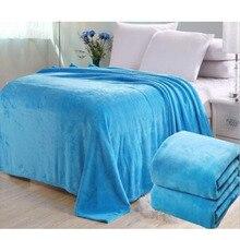 Big size Super Soft  Bed Blanket fleece Solid Pure color pink Blanket Plaids Bedspreads throw for Bed gift