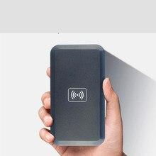 1 Set Qi Standard Ultra Slim Light Universal Qi Wireless Charger Charging Pad Mat + Android Universal Receiver Card Kit
