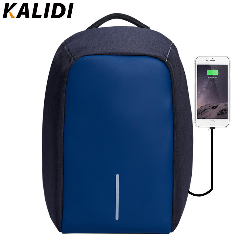 KALIDI Fashion Women Backpack Anti-theft Waterproof Laptop Backpack External USB Charge bag feminine backpack 14 15.6 inch kalidi 2pcs set backpack