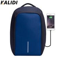 KALIDI Fashion Women Backpack Anti Theft Waterproof Laptop Backpack External USB Charge Bag Feminine Backpack 14