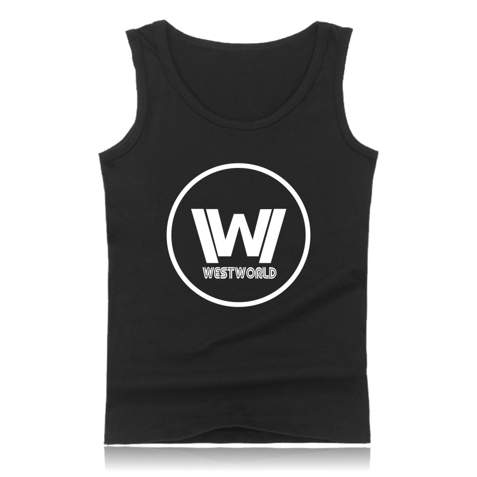 Westworld Cotton Tank Top Summer West And Plus Size West World Printing Sleeveless Tank Tops Men Clothes XXS To 4XL Chic Garment