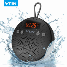 VTIN Waterproof Wireless Bluetooth Speaker 5W Stereo FM Radio Alarm Hands Free Speaker With Microphone For iPhone XS/X/8/7/6