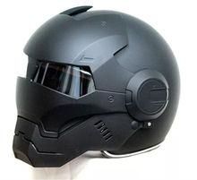 2017 Top hot Negro MASEI IRONMAN Iron Man casco de moto casco a cara descubierta medio casco casco casco de motocross 610 TAMAÑO: M L XL