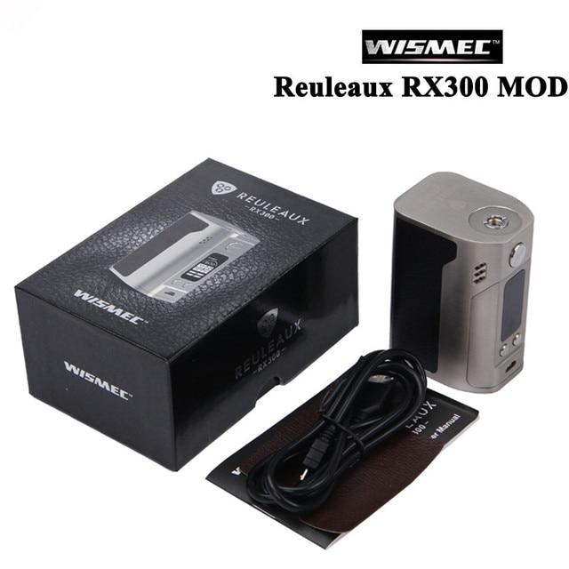 Оригинальный wismec reuleaux RX300 mod reuleaux RX300w углеродного волокна электронной сигареты 300 Вт VAPE mod 4 сменные 18650 батареи