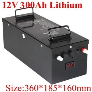 Image 1 - قابلة للشحن 12 فولت 300Ah صندوق بطارية ليثيوم أيون لنظام تخزين الطاقة الشمسية الشمسية/قارب كهربائي/RV/لوحة طاقة شمسية + 20 شاحن