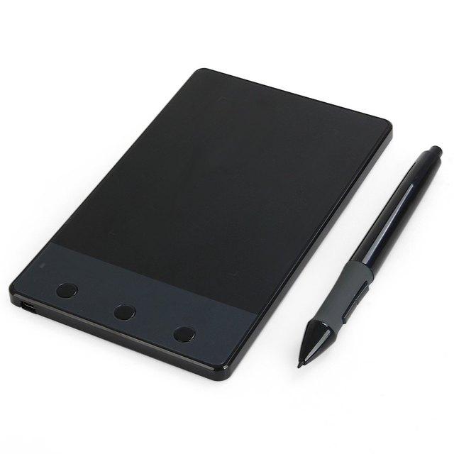 Nuevos H420 Huion 4000 LPI Reversible Firma Gráfica USB Digital Pen Tablet con 3 Tableta de Dibujo de Gráficos Teclas Express
