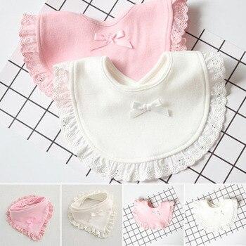 Fashion Cotton Newborn Lace Bow Baby Bibs Slabbetjes Cute Girls&Boys Burp Cloth Infant Baberos Saliva Towels