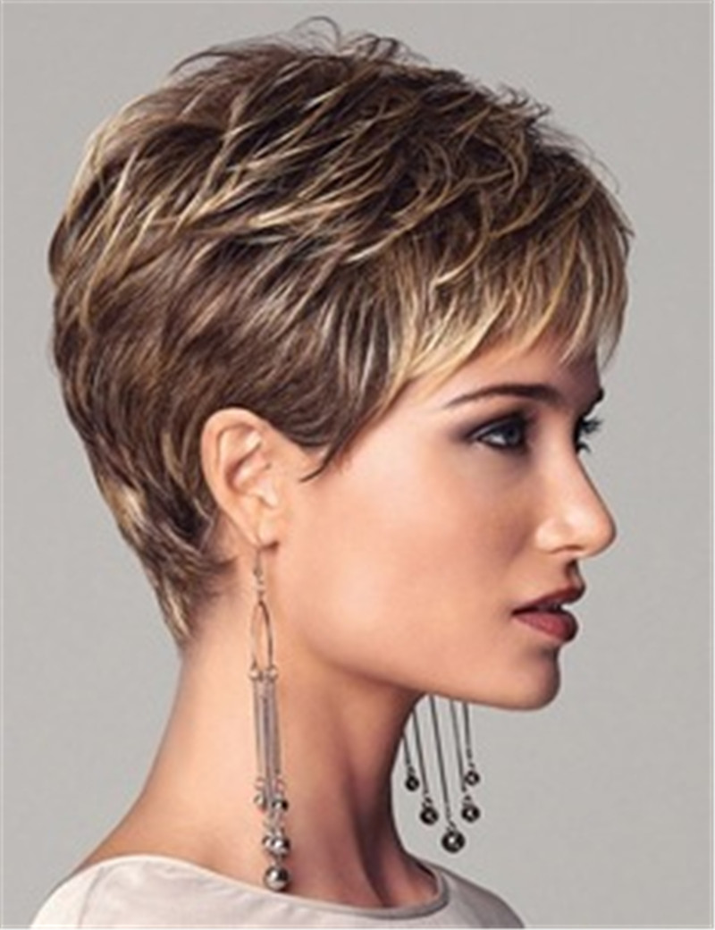 Short Wigs For Black Women Pixie Cut Wig Brown Afro Full African ...