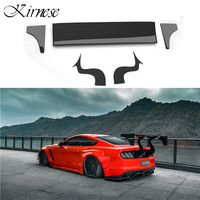 ROBOT Style Car Trunk Decoration Tail Wing Carbon Fiber Rear Wing Spoiler Fit For Ford Mustang 2015 UP