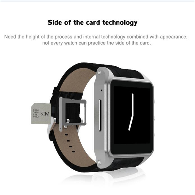 """X01 Плюс 1.54 """"Android 5.1 Smartwatch Телефон MTK6572 1 ГБ RAM 8 ГБ ROM Bluetooth 4.0 3 Г Wi-Fi GPS Водонепроницаемый Smart Watch pk 1:1 AS2"""
