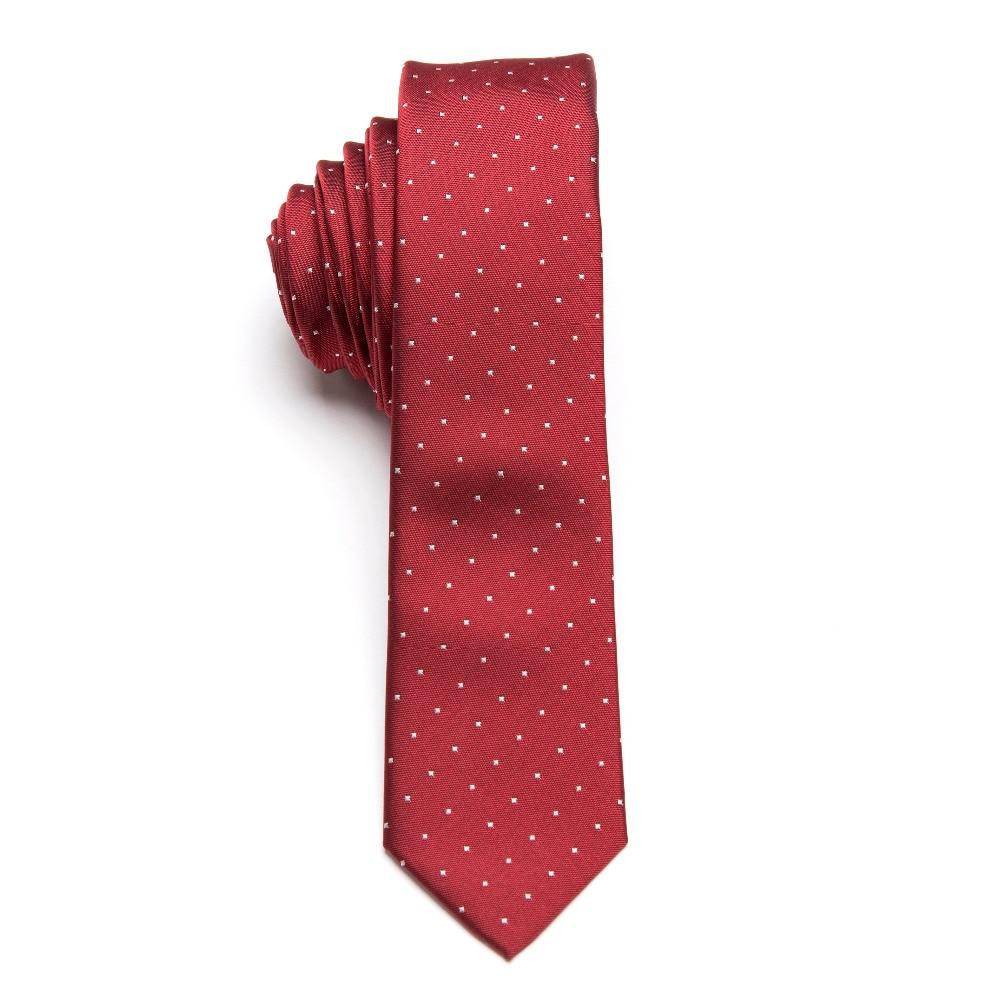Mannen stropdas set bowtie das rode wijn dot mode klassieke slanke - Kledingaccessoires - Foto 3