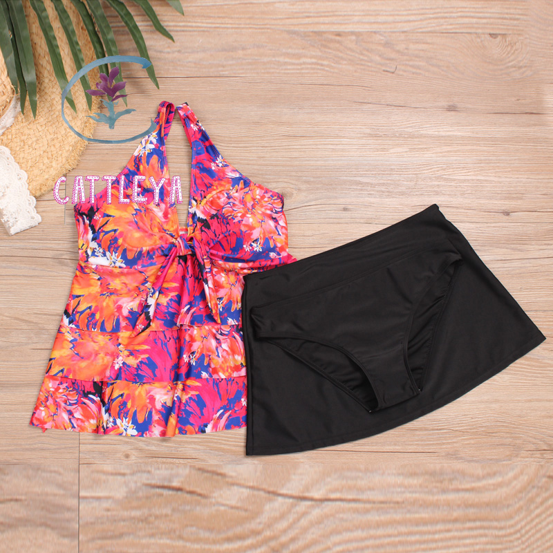 CATTLEYA plus size swimwear swimsuit sexy big for women monokini CQ 1807