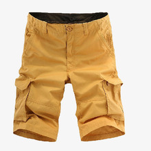 New 2019 Multi-pocket Men Cargo Shorts Casual Loose Short Pants Solid Camo Military Summer Knee Length Plus Size Shorts цена в Москве и Питере
