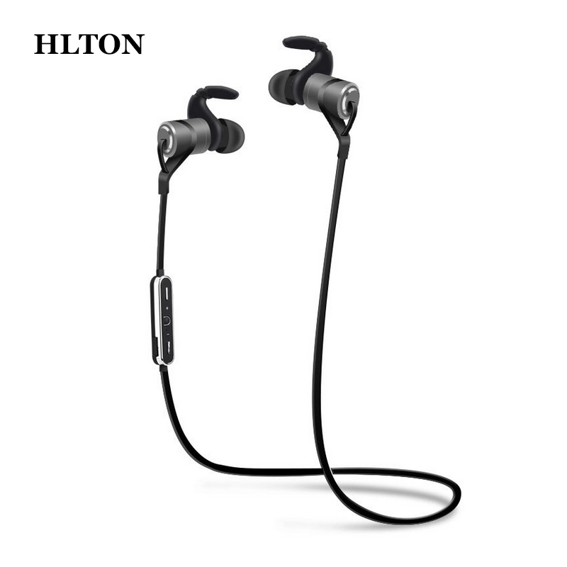 HLTON Sport Bluetooth Wireless Headset Magnetic Clarity Stereo Sound With Mic Earphone Auriculares For iPhone Samsung LG Xiaomi dacom carkit wireless bluetooth headset earphone with mic car charger for apple iphone 7 plus airpods android xiaomi samsung lg