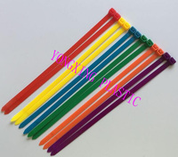 100Pcs/pack 8*250mm high quality width 7.6mm colorful Factory Standard Self locking Plastic Nylon Cable Ties,Wire Zip Tie