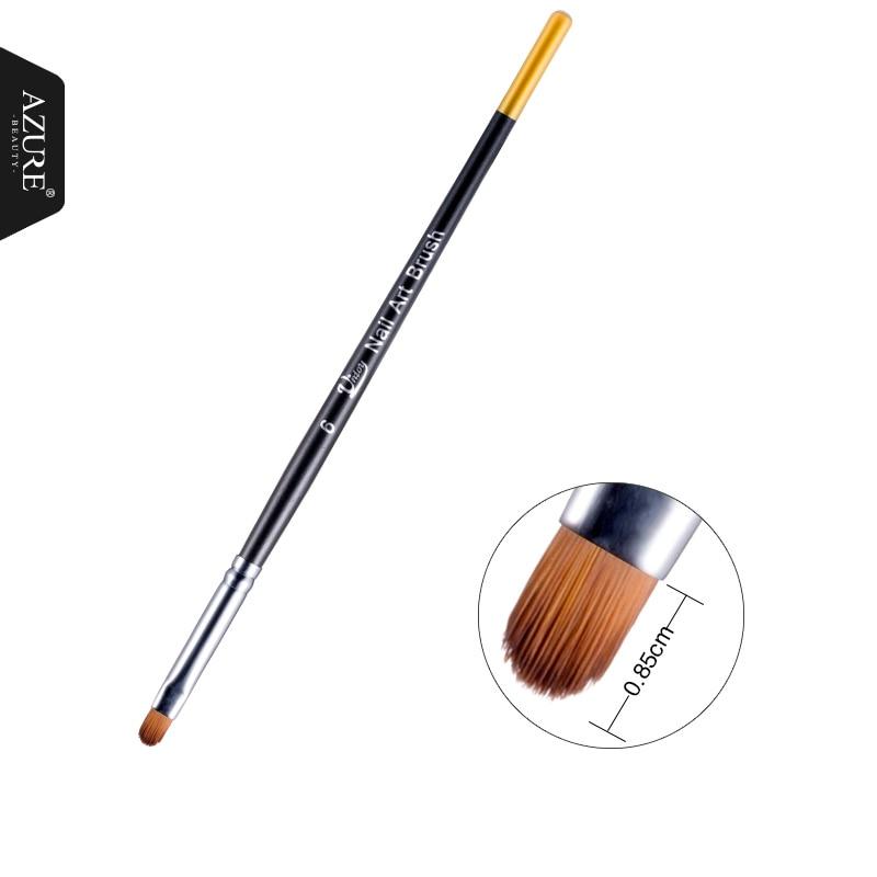 Azure Beauty Newest Nail Art Brush 2 Head Choose High Quality Nail Drawing Pen Professional Manicure Tool UV Gel Nail Brush Pen nail art drawing