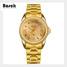 Relogio BOSCK мужская высокого класса люкс механические часы календарь точность водонепроницаемый бизнес марка часы эркек коль saati, reloj