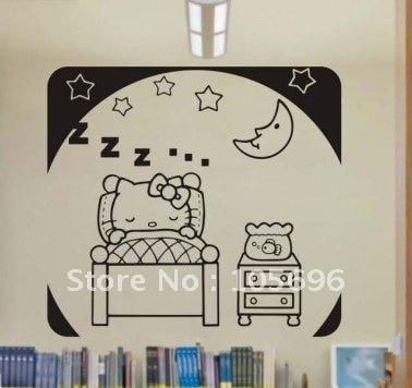 Cartoon Lovely Home Stickers Wall Decor Decals Murals Art Vinyl - Hello kitty custom vinyl stickers