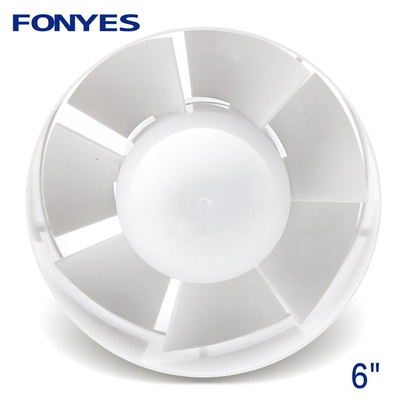 6 inch inline ducted fan for bathroom mini plastic pipe fan ceiling ventilation exhaust fan 150mm цена
