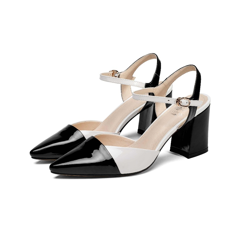 Oficina Superstar La 2018 verde Elegantes Cuero Vaca Correa Partido De Del Cuadrado Mezclados Zapatos L80 Superficiales Mujeres Colores Señora Hebilla Negro Sandalias Tacón dPwAXwq
