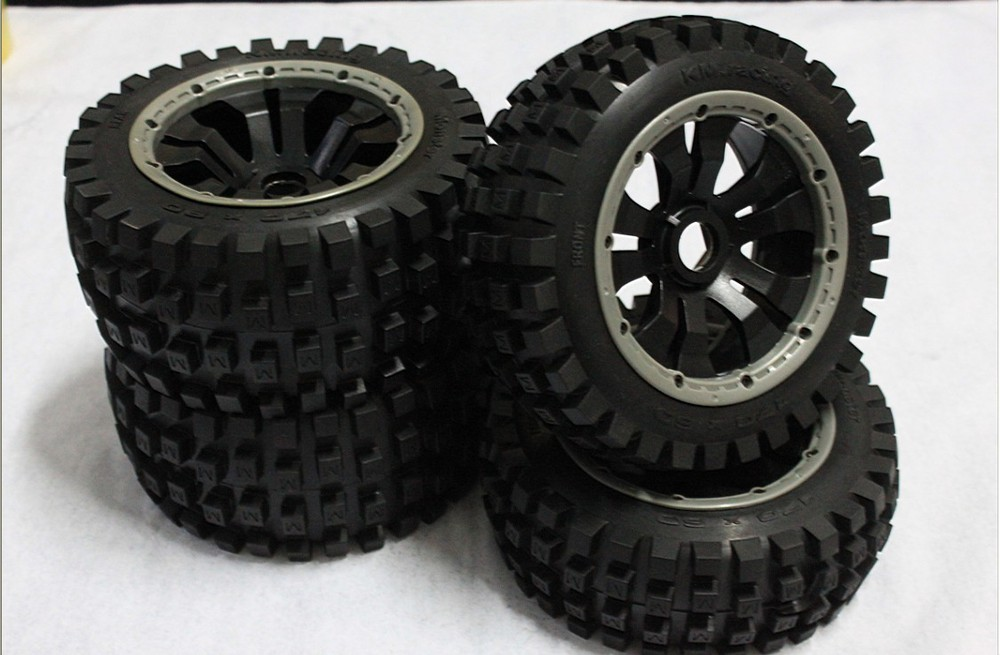 Monster off road Knobby tires fit baja 5b (2pc rear. 2pc front)