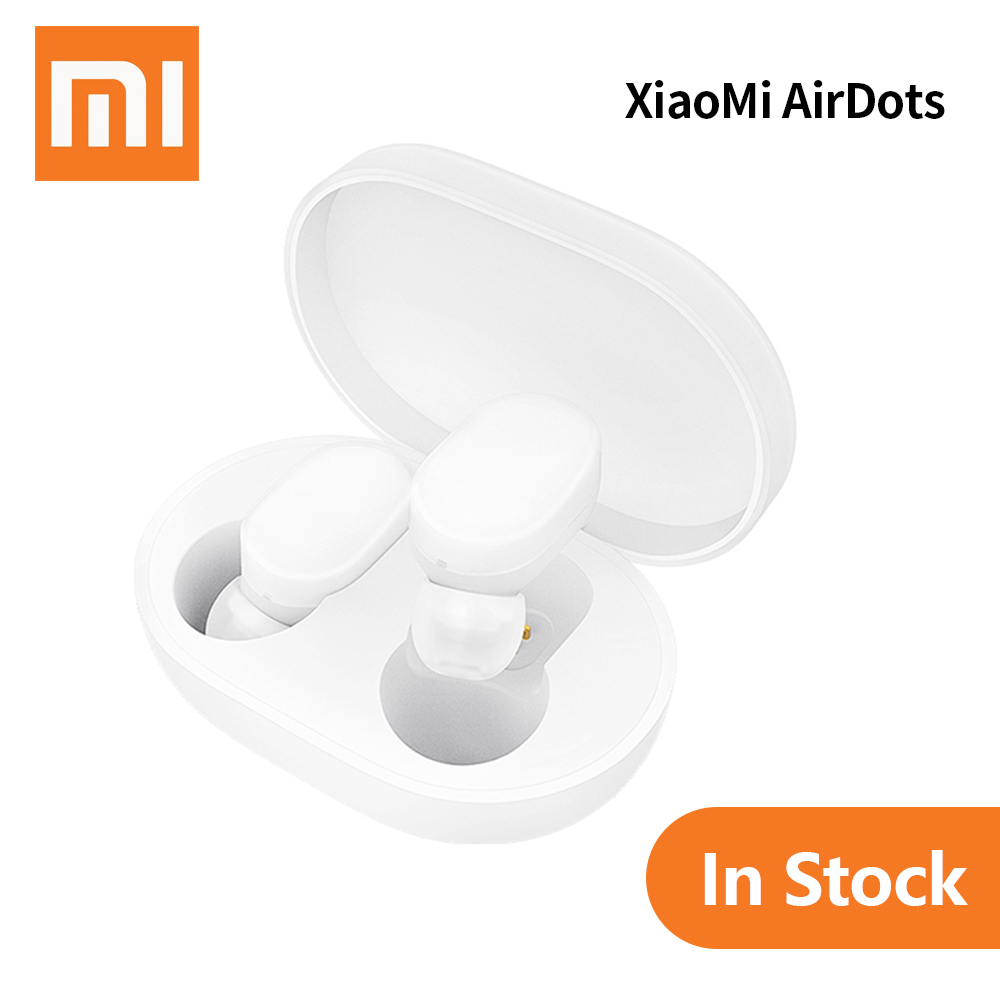 100% Original Xiaomi Redmi AirDots TWS Bluetooth Earphone Stereo MI AirDots Mini Wireless Bluetooth 5.0 Headset With Mic Earbuds