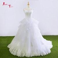 Jark Tozr 2018 New Special Brautkleid Lace Up Ruffles Appliques Princess Bridal Wedding Dresses With Petticoat Vestido De Novia