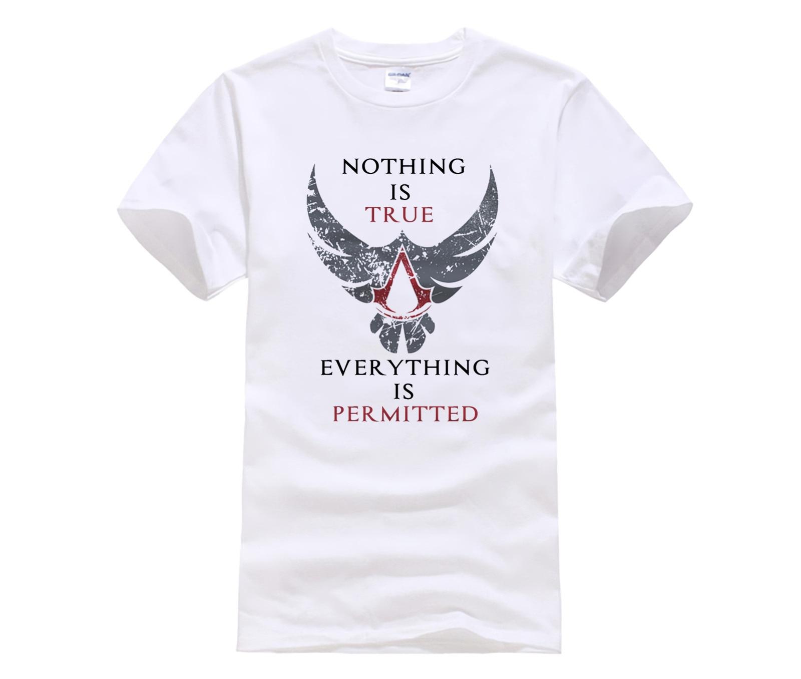 Phiking New anime game t shirt assassins creed tees shirts cotton short sleeve Gamer T-Shirt men