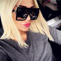 CURTAIN 2019 New Square Sunglasses Oversized Women Luxury Brand Designer Classic Sun Glasses Female Retro Vintage Shades Eyewear