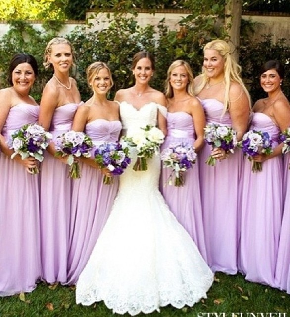 Aliexpress.com : Buy Lavender Bridesmaid Gowns Navy Blue/Peach ...