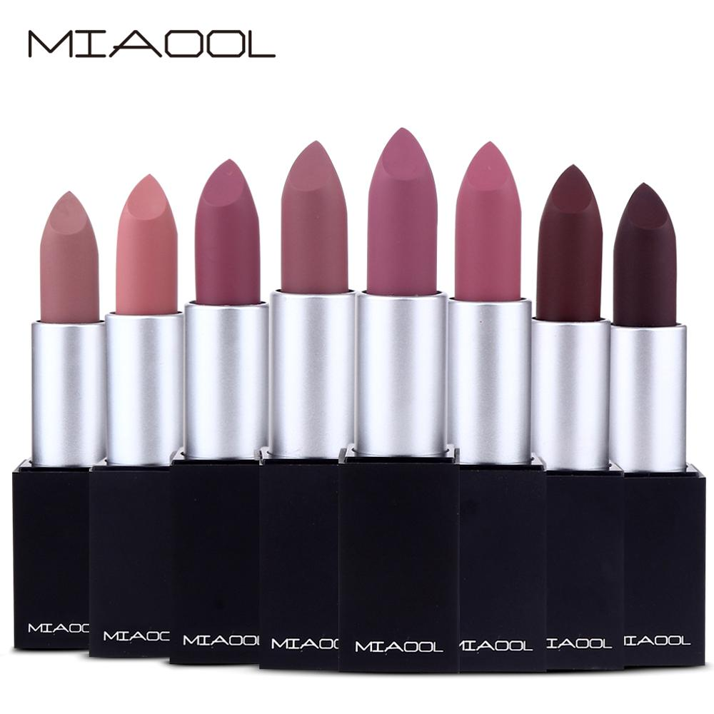 Brand Professional Lips Makeup Matte Lipstick 8 Colors Wateproof Sexy Red Brown Pigments Long Lasting Beauty Lipstick Maquiagem in Lipstick from Beauty Health