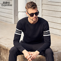 Enjeolon brand winter o neck knitted pullover Sweaters man fashion thick Sweater casual pullovers 3XL MY3221