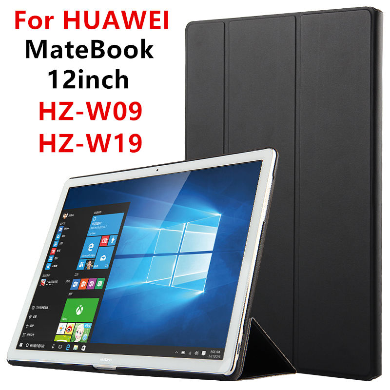 Case For Huawei MateBook Smart cover 12inch PU Leather Protective Tablet PC For HUAWEI MateBook HZ-W09 HZ-W19 HZ-W29 PUProtector цены онлайн