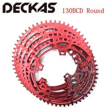 DECKAS круглый 130BCD 50 T/52 T/54 T/56 T/58 T велосипедная цепь MTB велосипедная передняя Звездочка шатун пластина BCD 130 мм зубная пластина